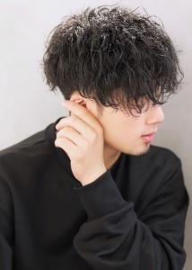 メンズマッシュツイスト黒髪